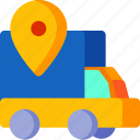 delivery, location, marker, navigation, pointer, truck icon