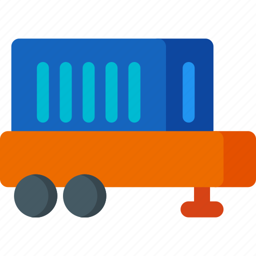 delivery, package, shipping, shopping, train, transport, transportation icon