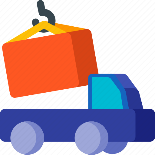 box, delivery, load, package, transportation, truck, vehicle icon