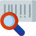 barcode, magnifier, search, shipping, shop, shopping, track icon