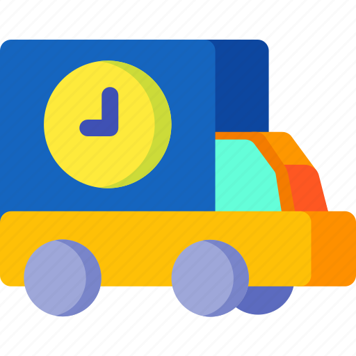 buy, clock, ecommerce, online, shipping, time, truck icon