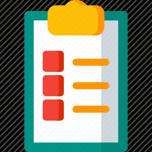 checklist, clipboard, document, extension, file, files, format icon