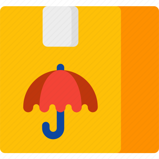 delivery, package, safe, shipping, sign, transport, umbrella icon