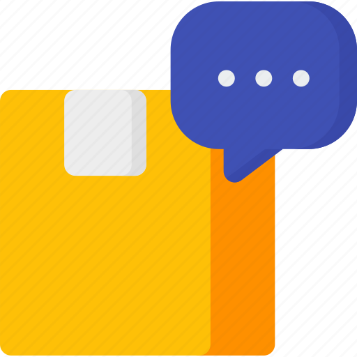 box, comment, delivery, help, package, service, support icon