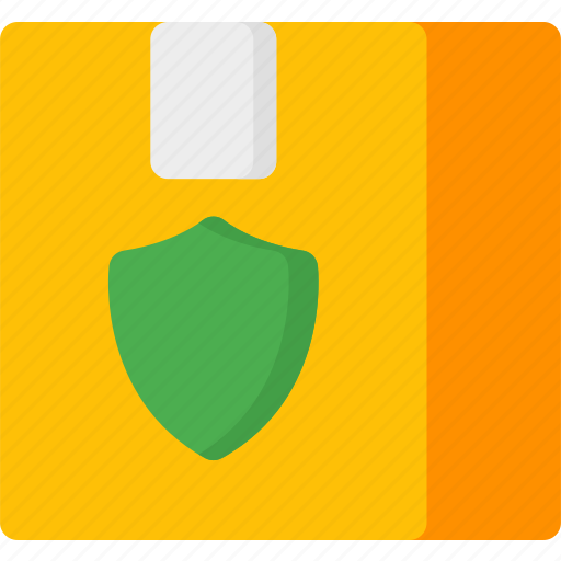 box, insurance, package, protection, secure, security, shield icon
