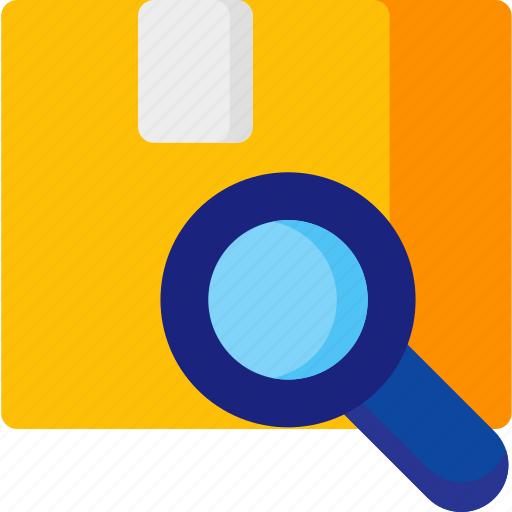 box, find, magnifier, package, track, zood icon