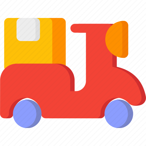 delivery, motorcycle, shipping, shopping, transport, transportation, vehicle icon