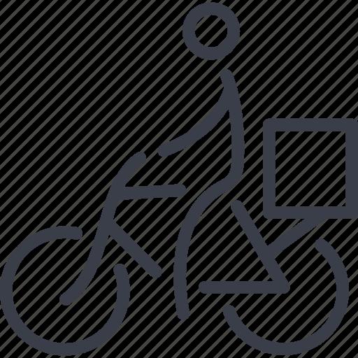 bike, delivery, deliveryman, transport, transportation icon