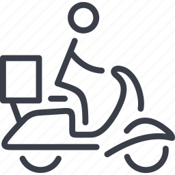 box, delivery, scooter, transport, transportation, vehicle icon