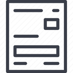 delivery, document icon