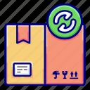 box, delivery, recycling, utilization, vectoryland icon
