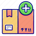 add, box, enter, items, vectoryland icon
