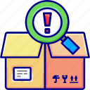 box, delivery, entered, goods, items, vektoryland icon