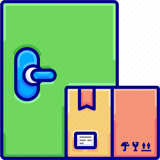 delivery, doors, goods, shipping, to, up, vetoryland icon