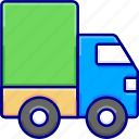delivery, shipping, transport, truck, vectoryland icon