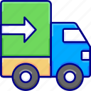 delivery, shipping, transportation, truck, vectoryland icon