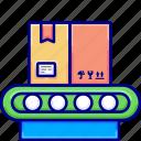 box, delivery, escalator, vectoryland icon