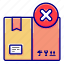 boxes, canceled, cancellation, delivery, failed, shipments, vectoryland icon