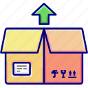 box, goods, out, send, shipping, vectoryland icon