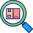 boxes, item, items, search, vectoryland icon