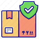 safe, security, shield, shipping, vectoryland icon