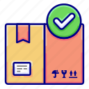 check, complete, delivery, land, successful, vectoryland icon
