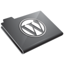grey, wordpress icon