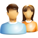 female, friends, group, male, users icon