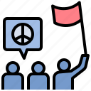 demonstrate, march, parade, protest, rally icon