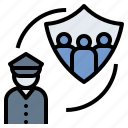 cop, guardian, police, protect, safeguard icon