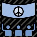 parade, peace, pride, protest, rally icon