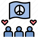 cohesion, peaceful, solidarity, team, union icon