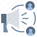 advertising, announce, influence, megaphone, promotion icon