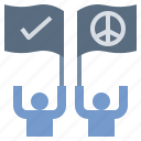 democracy, peaceful, teamwork, victory, winner icon