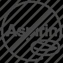 aspirin, danger, dengue, fever, must not, no, virus icon