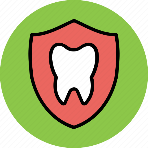dental, dental health, healthcare, oral care, shield, shield protection, tooth icon