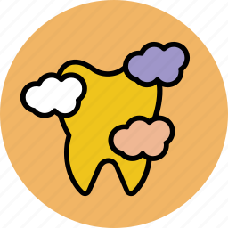 bacteria, dental, dirty, illness, plaques, sick, tooth icon