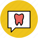 chat bubble, dental, dental blog, dental care, dentistry dialogue, health, stomatology icon