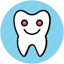 cartoon, cheerful, dental, dental health, hygiene, improvement, tooth icon