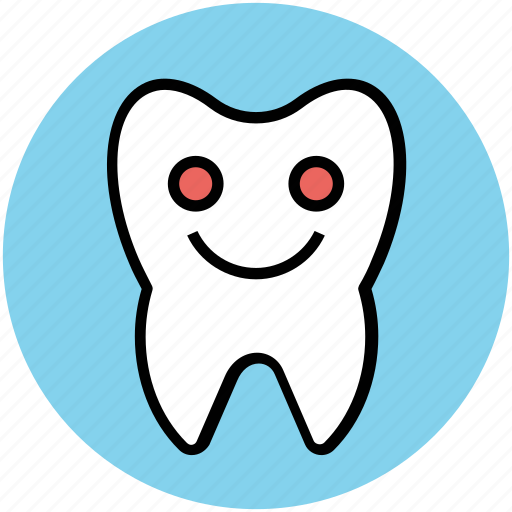 cartoon, cheerful, dental, dental health, hygiene, improvement, tooth icon