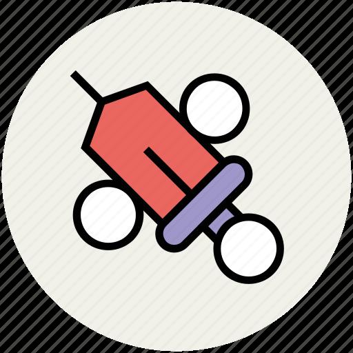 healthcare, hypodermic, inject, injecting, injection, medical syringe, syringe icon