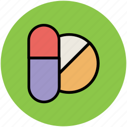 capsule, drugs, medications, medicine, pill, tablet, wellbeing icon