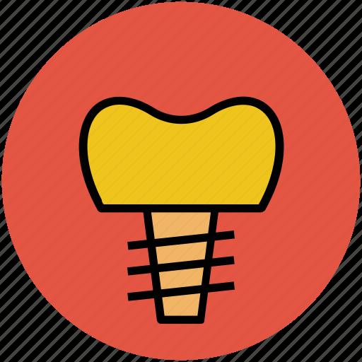 dental, denture, human, implant, prosthesis, render, stomatology icon