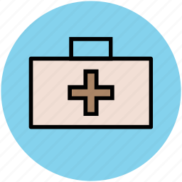 doctor case, first aid kit, healthcare, medical bag, medical emergency, medical rescue icon