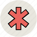 emergency, emergency symbol, healthcare, medical, medical star, medical symbol, star of life icon