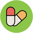 antibiotic, capsules, drugs, medications, medicine, prescriptions, rx icon