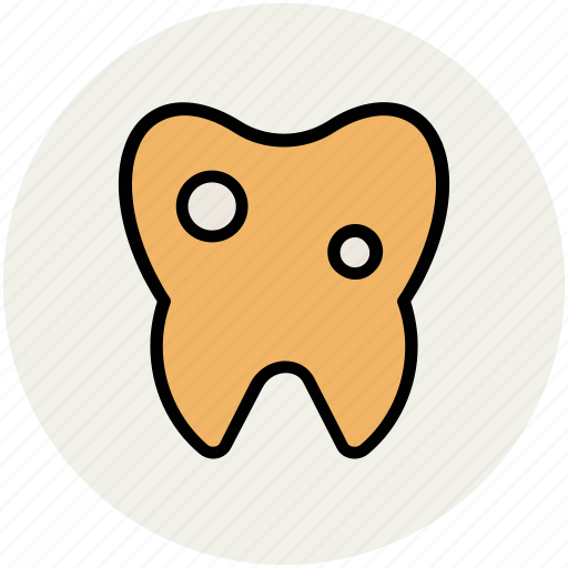 caries, caries tooth, dental, dental caries, human tooth, tooth, tooth disease icon