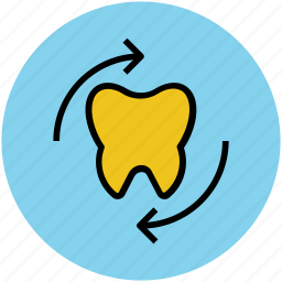 care, dental care, dentistry, protection, stomatology, teeth protection, tooth, tooth with arrows icon