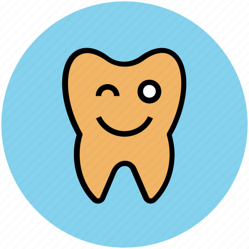 advertisement, blinking, blinking tooth, cartoon, dental, health, tooth icon