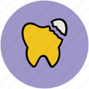 broken, crack, damaged tooth, defective tooth, dental problem, human tooth, tooth icon